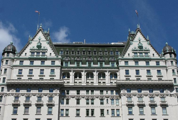 A US gay rights group protests a possible purchase of New York's iconic Plaza Hotel by the sultan of Brunei, set to implement tough punishments for same-sex acts