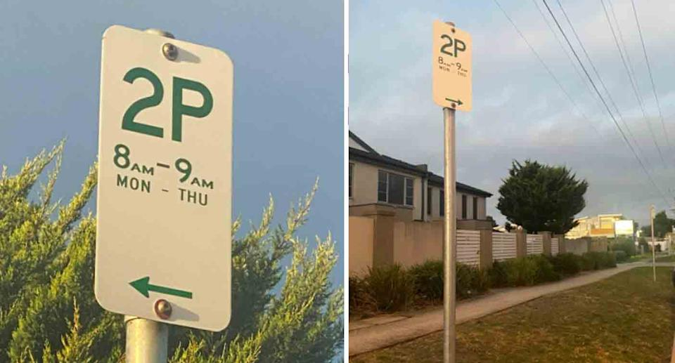 The sign caused mass confusion online. Source: Facebook
