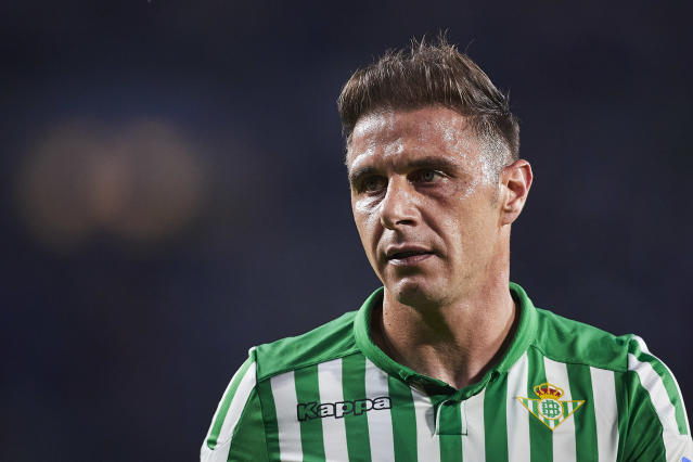 SEVILLE, SPAIN - OCTOBER 30: Joaquin Sanchez of Real Betis looks on during the Liga match between Real Betis Balompie and RC Celta de Vigo at Estadio Benito Villamarin on October 30, 2019 in Seville, Spain. (Photo by Quality Sport Images/Getty Images)