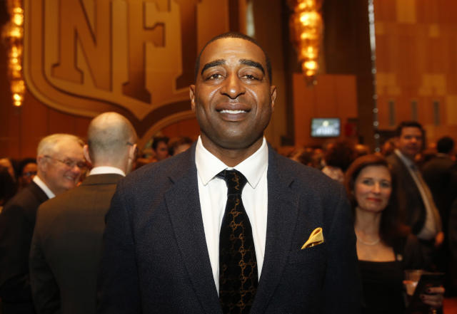 Hall of Fame receiver Cris Carter got emotional on Friday as he discussed what football has done for him – but what it could do to him in the future. (AP)