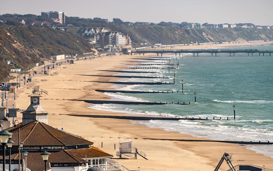 Boscombe Beach and Pier - Getty