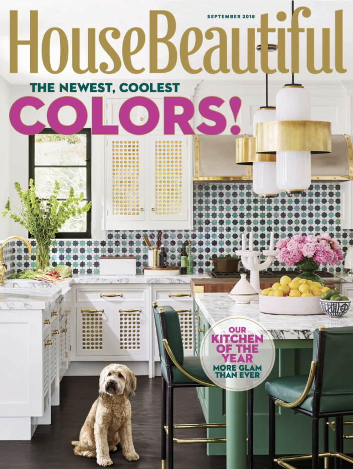"""<p>Obviously the September 2018 issue is ahead of the 2019 trends with this <a href=""""https://www.housebeautiful.com/room-decorating/kitchens/g24672630/kitchen-trends-2019/"""" rel=""""nofollow noopener"""" target=""""_blank"""" data-ylk=""""slk:beautiful two-toned kitchen"""" class=""""link rapid-noclick-resp"""">beautiful two-toned kitchen</a>.</p>"""