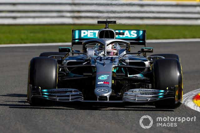 "Lewis Hamilton, Mercedes AMG F1 W10 <span class=""copyright"">Zak Mauger / LAT Images</span>"