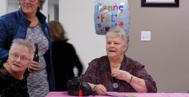 Denise Levesque at her 80th birthday celebration in 2014.