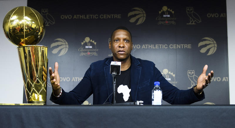 Toronto Raptors president Masai Ujiri. (Nathan Denette/The Canadian Press vía AP)