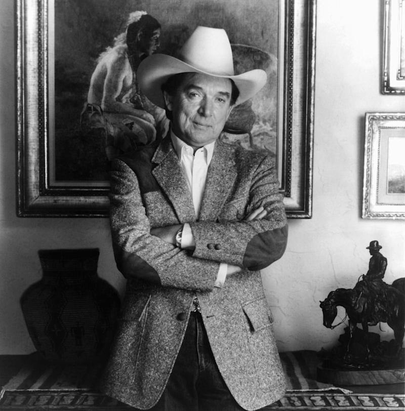 FILE - This June 1983 file photo provided by Viva Records, shows country singer Ray Price. Price, one of country music's most popular and influential singers and bandleaders who had more than 100 hits and was one of the last living connections to Hank Williams, died Monday, Dec. 16, 2013. He was 87. (AP Photo/Viva Records, File)