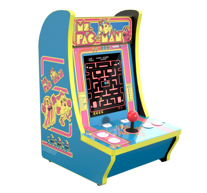 Arcade1Up CounterCade Ms. Pac-Man Countertop Arcade Machine. Image via Best Buy.