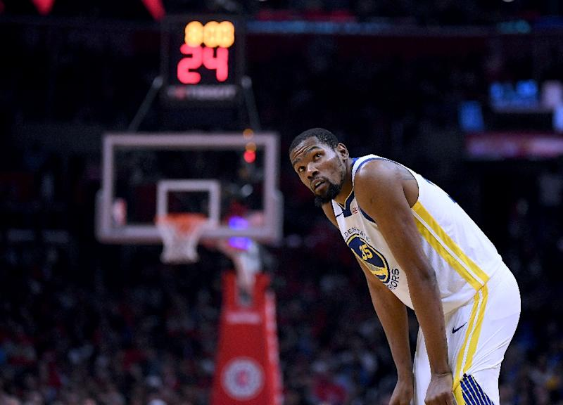 b124727a8eae Golden State Warriors forward Kevin Durant notched 38 of his playoff career  high 50 points in