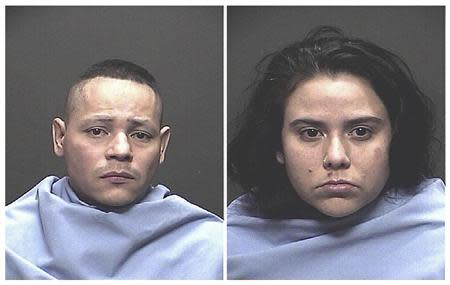 Fernando Richter, 34, and Sophia Richter, 32, are pictured in this handout booking photo courtesy of the Tucson Police Department and received by Reuters November 27, 2013. REUTERS/Tucson Police Department/Handout