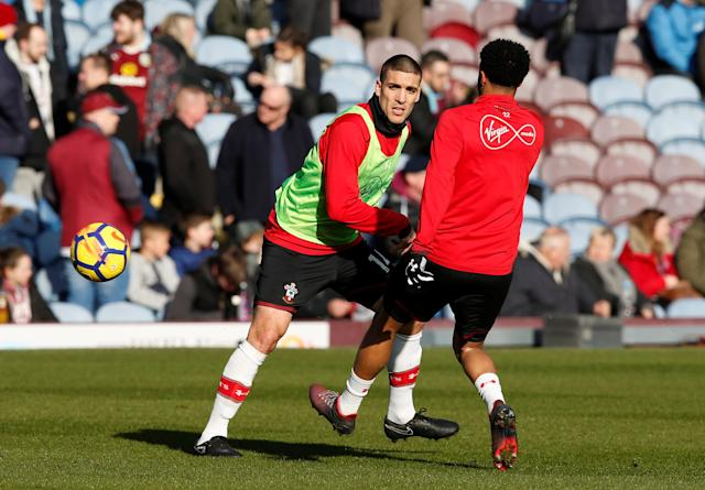 "Soccer Football - Premier League - Burnley vs Southampton - Turf Moor, Burnley, Britain - February 24, 2018 Southampton's Oriol Romeu during the warm up before the match REUTERS/Andrew Yates EDITORIAL USE ONLY. No use with unauthorized audio, video, data, fixture lists, club/league logos or ""live"" services. Online in-match use limited to 75 images, no video emulation. No use in betting, games or single club/league/player publications. Please contact your account representative for further details."