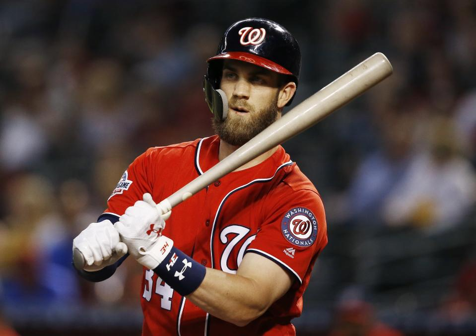 Bryce Harper is going to make a lot of money this winter. We just don't know who's going to give it to him. (AP Photo)