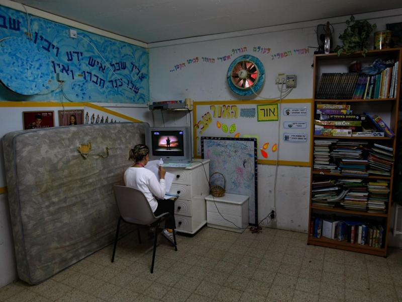 A bomb shelter in the Israeli town of Netivot: Getty Images