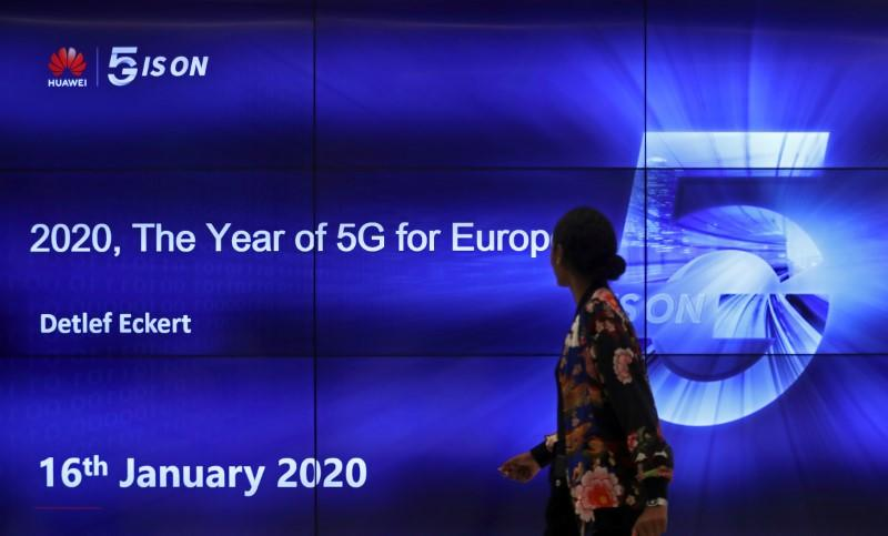 "FILE PHOTO: The ""2020, The Year of 5G for Europe"" conference at the Huawei Cyber Security Transparency Centre in Brussels"