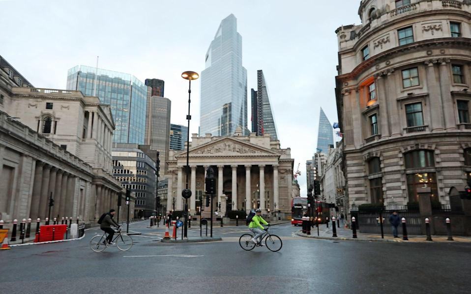 The City bounced back today from a sharp fall on the FTSE 100 index - Luciana Guerra/PA
