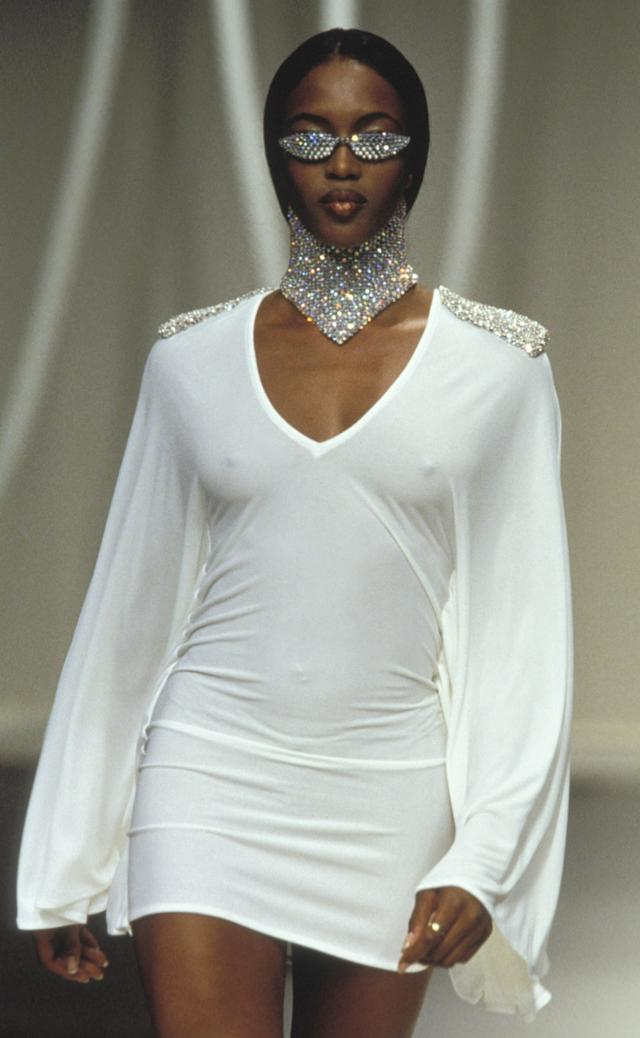ea7f527c41f4f Naomi Campbell walks the runway of the Rifat Ozbek spring summer 1995 show  during Paris