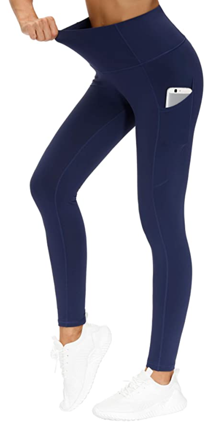 The Gym People Tummy Control Yoga Pants in Blue (Photo via Amazon)