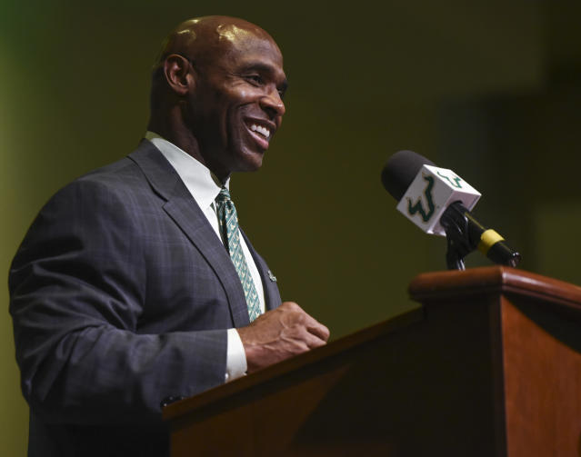 Charlie Strong found a soft landing at South Florida after three tough years at Texas. (AP)