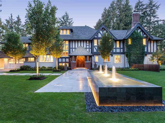 <p>No. 7: <span>2106 SW Marine Drive, Vancouver, B.C.</span><br> List price: $29,800,000<br> The owners of the six bedroom, eight bathroom Gables Estate have dropped the price. This home appeared on our spring list tied at No. 2, listed then for $38 million. It's a re-imagined Tudor mansion, with impressive views you can take in from the 65′ infinity swimming pool, or on the roof-top deck. (Photo: Engels & Volker) </p>