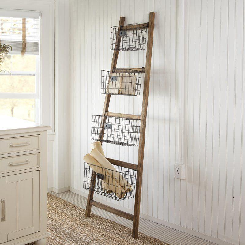 Not only does this save space because it's standing, but it has four cubbies to hold all your bathroom essentials.