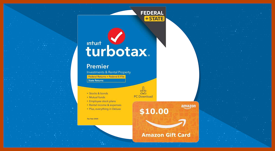 TurboTax Premier 2020 (Federal & State) + free $30 Amazon gift card. (Photo: Amazon)