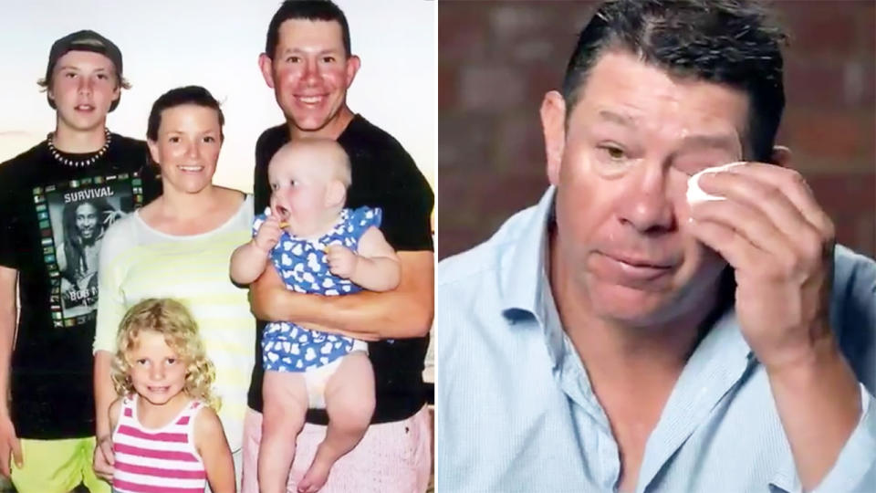 Brett Ratten, pictured here discussing his son Cooper's death.