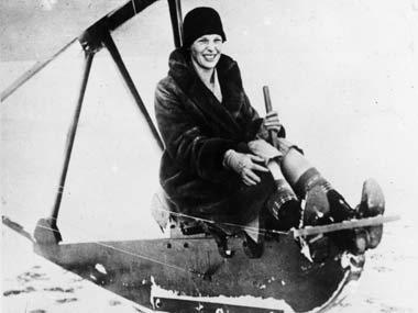 File photo of Amelia Earhart. Getty Images