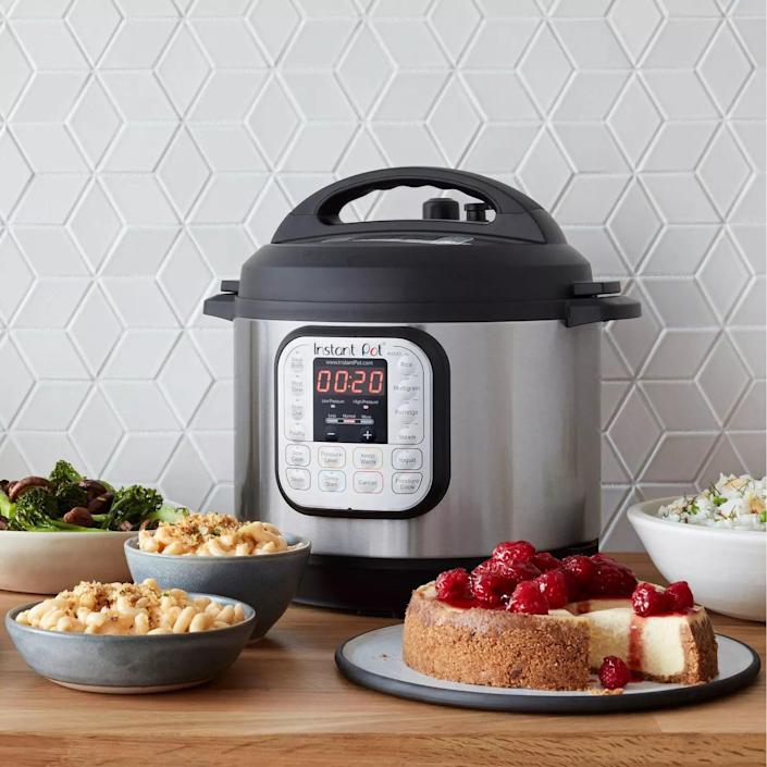 <p>The <span>Instant Pot Duo 6qt 7-in-1 Pressure Cooker</span> ($80, originally $100) is the one-stop-shop for cooking a variety of quick, hassel-free meals.</p>