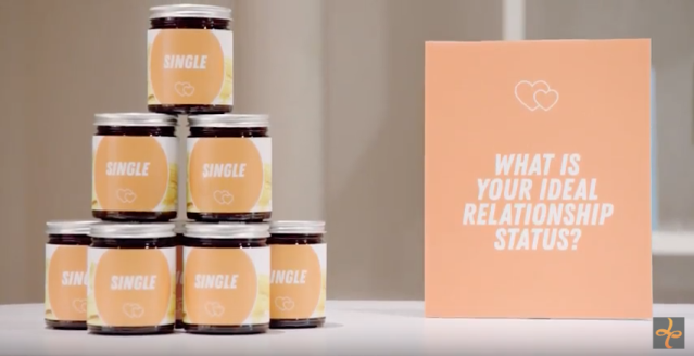 Another section of the store asks about ideal relationship status. (Photo: Lean Cuisine)