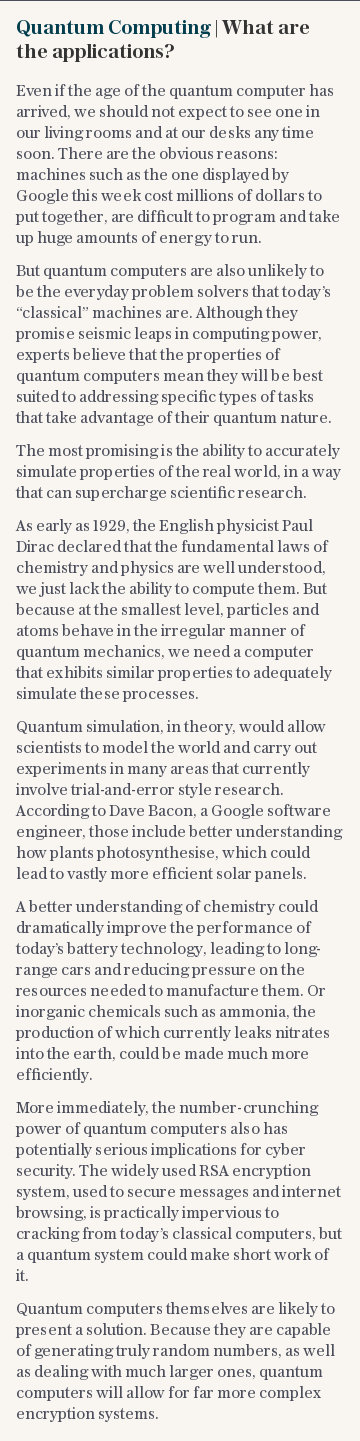 Quantum Computing | What are the applications?