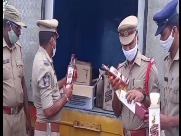 The police seized 342 bottles worth Rs 1.5 lakh. (Photo: ANI)