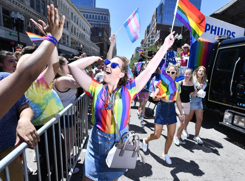 IMAGE DISTRIBUTED FOR PHILIPS - More than 100 Philips employees, families and friends, march beside the Philips float in support of the LGBTQ community during the Boston Pride Parade on Saturday, June 8, 2019. Companies like Philips foster an inclusive working environment where people are valued and accepted for their uniqueness, and where everyone can be themselves. (Josh ReynoldsAP Images for Philips)