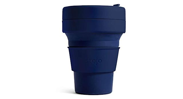 Stojo Navy Collapsible Pocket Cup