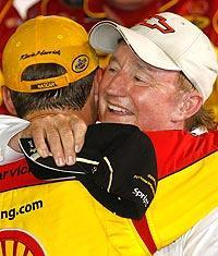 Richard Childress and Kevin Harvick celebrate their second victory at Daytona