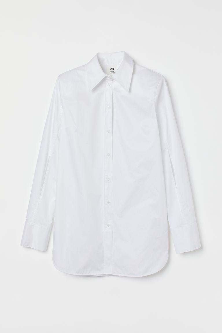 <p>As fun as statement pieces are, you also need good basics. This <span>H&amp;M Cotton Poplin Shirt</span> ($70) is a staple in everyone's wardrobe.</p>