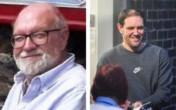 Terence Whall (right) appeared in court accused or killingGerald Corrigan (left) with a crossbow in April last year. - PA (left), Andy Kelvin / Kelvin Media (right)