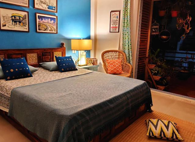 A view of the master bedroom.