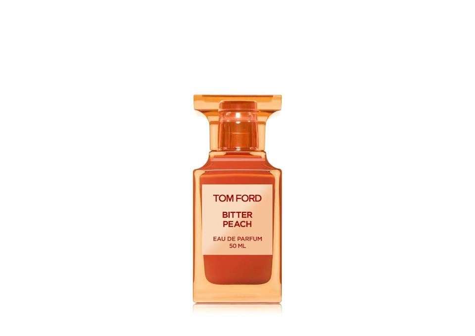 "<p>Tom Ford's Lost Cherry made <em>Allure</em> editors fall hard, and now the brand has done it again with its Bitter Peach scent. You get that peach fragrance, but it's spiced up with davana and patchouli, giving this scent a sweet sophistication. It's perfect for the colder months, and we're sure your pandemic snuggle buddy won't mind this scent lingering as you both curl up under a warm weighted blanket.</p> <p><strong>$350 for 50 milliliters</strong> (<a href=""https://www.sephora.com/product/tom-ford-bitter-peach-eau-de-parfum-P464304"" rel=""nofollow noopener"" target=""_blank"" data-ylk=""slk:Shop Now"" class=""link rapid-noclick-resp"">Shop Now</a>)</p>"
