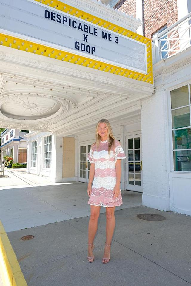 <p>By now, we all know that Paltrow is the hostess with the mostest. She had the opportunity to prove it once again when Goop hosted a screening of the family friendly movie <i>Despicable Me 3</i> in Southampton, N.Y. (Photo: Matthew Eisman/Getty Images for goop) </p>