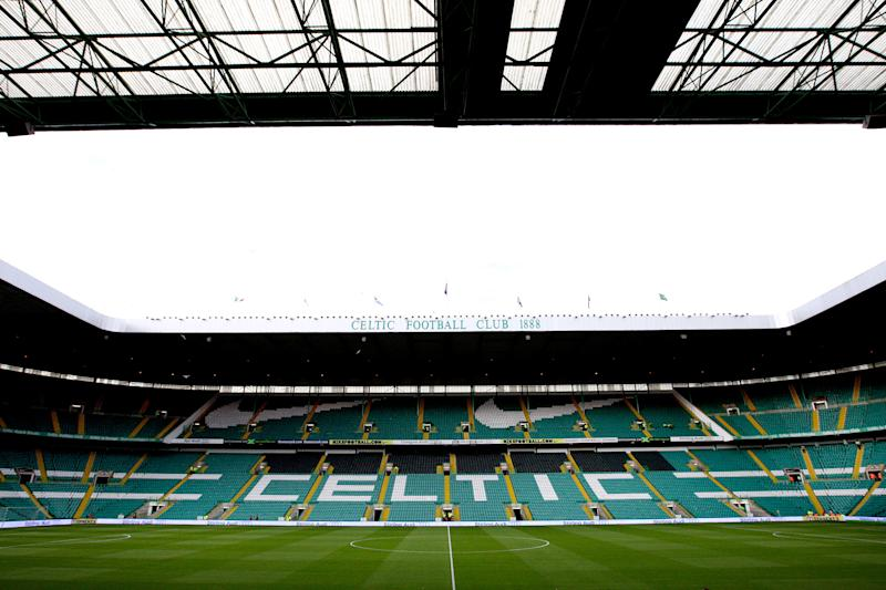 A general view of the stadium ahead of the Champions League third qualifying round, second leg soccer match between Celtic and Sporting Braga at Celtic Park, Glasgow, Scotland, Wednesday Aug. 4, 2010. (AP Photo/Scott Heppell)