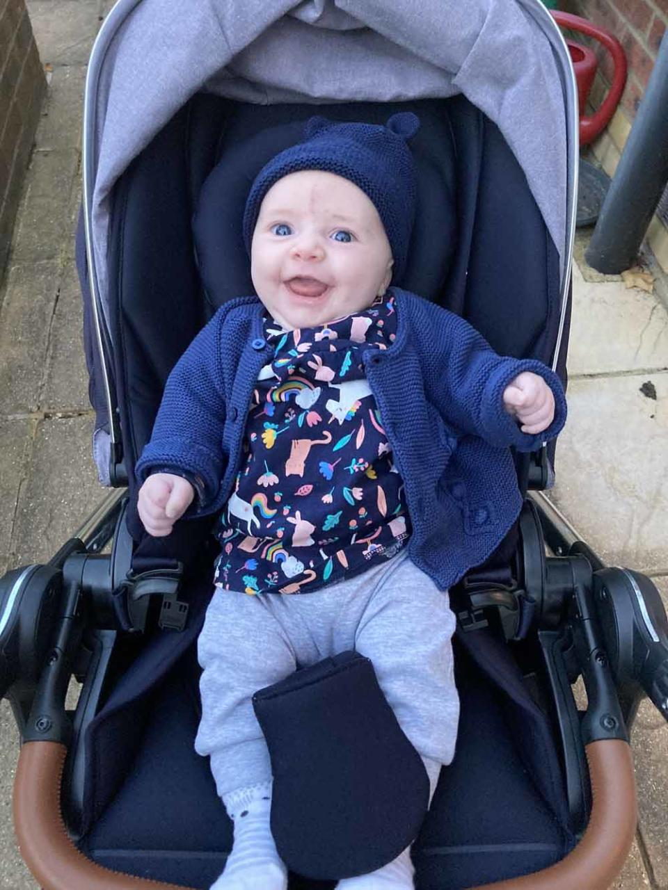 Baby Willow Grace in her pram. PA REAL LIFE