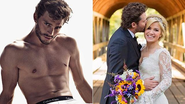 Buzzmakers:'50 Shades' Finds its Man & Kelly Weds!