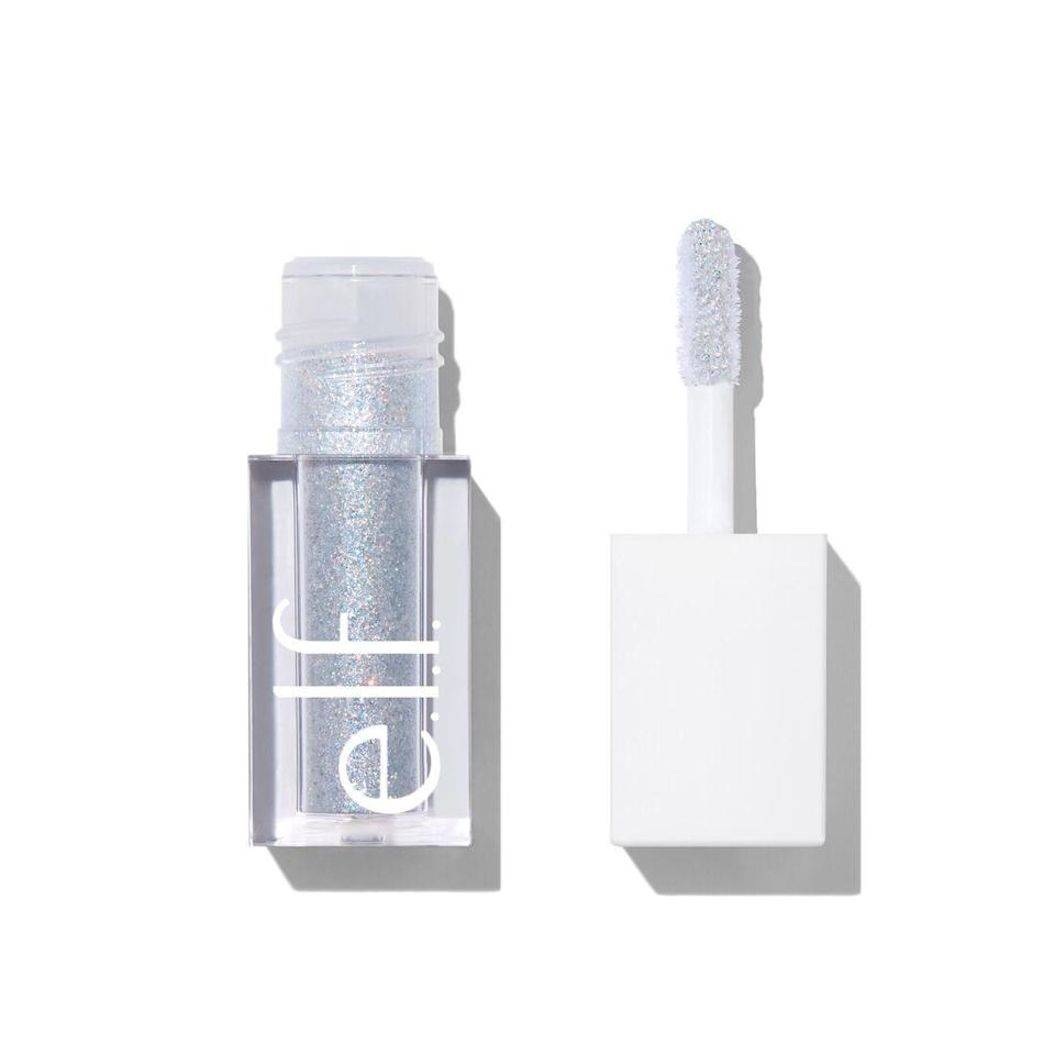 """<p>These Liquid Glitter Eye Shadows by E.L.F. Cosmetics are every bit as sparkly as they are wallet-friendly. Like a club dancefloor in a tube, the silvery shade Disco Queen shown above is always sure to start a party.</p> <p><strong>$5</strong> (<a href=""""https://www.elfcosmetics.com/liquid-glitter-eyeshadow/300161.html"""" rel=""""nofollow noopener"""" target=""""_blank"""" data-ylk=""""slk:Shop Now"""" class=""""link rapid-noclick-resp"""">Shop Now</a>)</p>"""