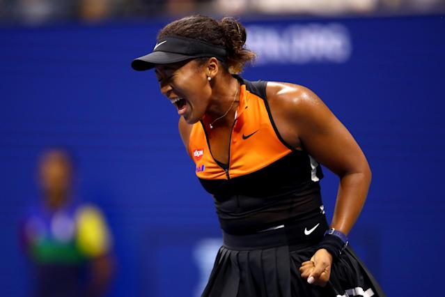 Naomi Osaka had little issue getting past Coco Gauff on Saturday night in the third round of the US Open. (Clive Brunskill/Getty Images)