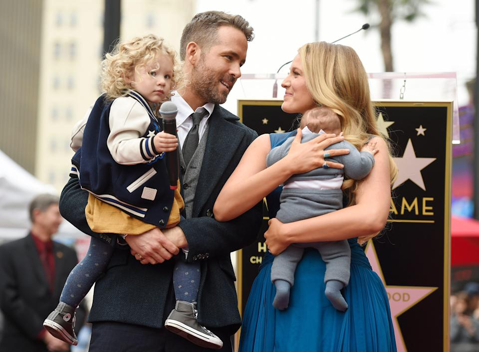 """Ryan Reynolds said it was """"an honor"""" to have the names of his kids with Blake Lively dropped into a Taylor Swift song — even though the lyrics aren't about the real James, 6, Inez, 4 and Betty, 1."""