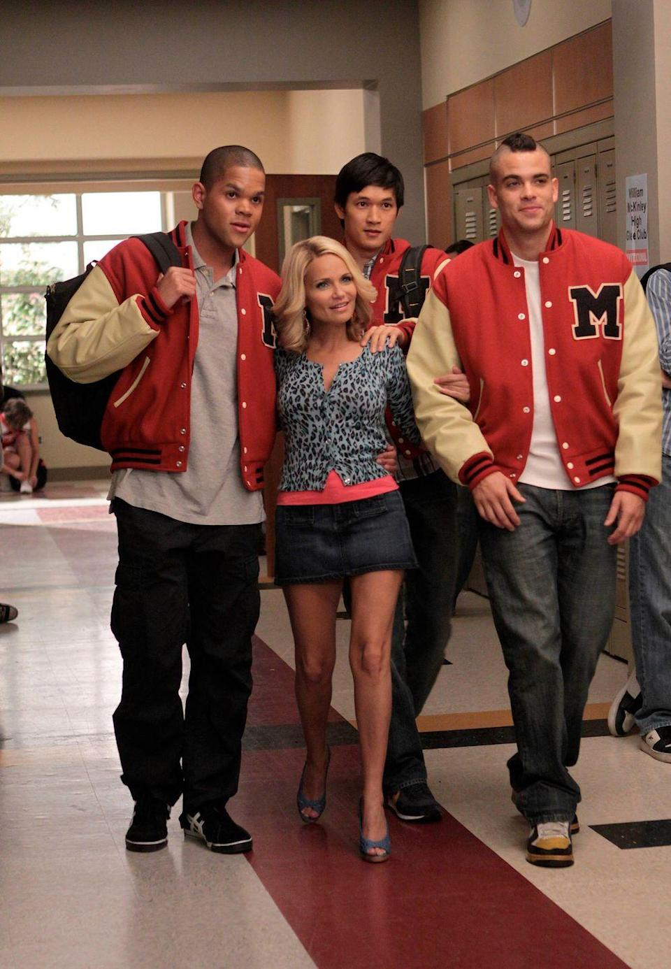 "<p>Did you forget about when Kristin Chenoweth starred as April Rhodes, the former crush of Mr. Schue who spends most of her time not sober and potentially hooked up with three members of the Glee club? Yeah, us either. </p><p>""'Glee' remains so close to my heart, and if I never get to play her again, she was probably the most fun I've ever had,"" Kristin told <a href=""https://tasteofcountry.com/kristin-chenoweth-country-album-glee-interview-2011/"" rel=""nofollow noopener"" target=""_blank"" data-ylk=""slk:Taste of Country"" class=""link rapid-noclick-resp"">Taste of Country</a> of her role on the show. ""Hopefully April never goes to rehab and she's always, you know, drinking Franzia.""<br></p>"