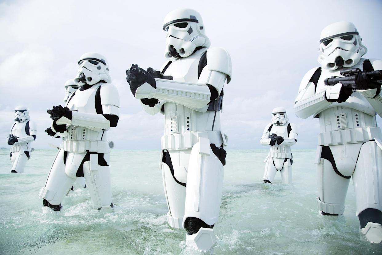 Stormtroopers on the march in <em>Rogue One: A Star Wars Story</em> (Photo: Lucasfilm)