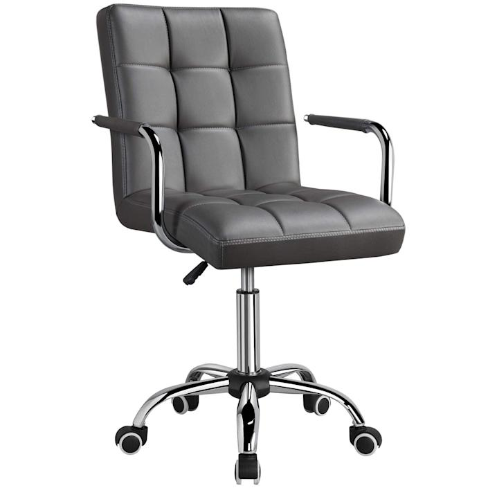 """<h2>Yaheetech Adjustable PU Leather Office Chair</h2><br>Smooth 360-degree swivel, comfortable backrest, and gas lift adjustments are only a few of this chair's dazzling features. We also love its simple and sleek tufted design.<br><br><strong>The Hype</strong>: 4.3 out of 5 stars and 4,397 reviews<br><br><strong>WFH Pros Say</strong>: """"I love the look and feel of this chair! I read all of the reviews about it only being for tiny people, which made me hesitate to purchase it right away. But I'm glad I took the risk and bought it. Yes, it's compact. I'm only 5'3, but I weigh 177 lbs, which means I have hips and an ample derrière, and I don't have any trouble at all fitting comfortably in it. (If you weigh more than 200 lbs, you'll probably want to look at a more standard-sized chair.)""""<br><br><em>Shop</em> <strong><em><a href=""""https://amzn.to/3uoNP2G"""" rel=""""nofollow noopener"""" target=""""_blank"""" data-ylk=""""slk:Yaheetech"""" class=""""link rapid-noclick-resp"""">Yaheetech</a></em></strong><br><br><strong>Yaheetech</strong> Adjustable PU Leather Office Chair, $, available at <a href=""""https://amzn.to/3en07Dc"""" rel=""""nofollow noopener"""" target=""""_blank"""" data-ylk=""""slk:Amazon"""" class=""""link rapid-noclick-resp"""">Amazon</a>"""