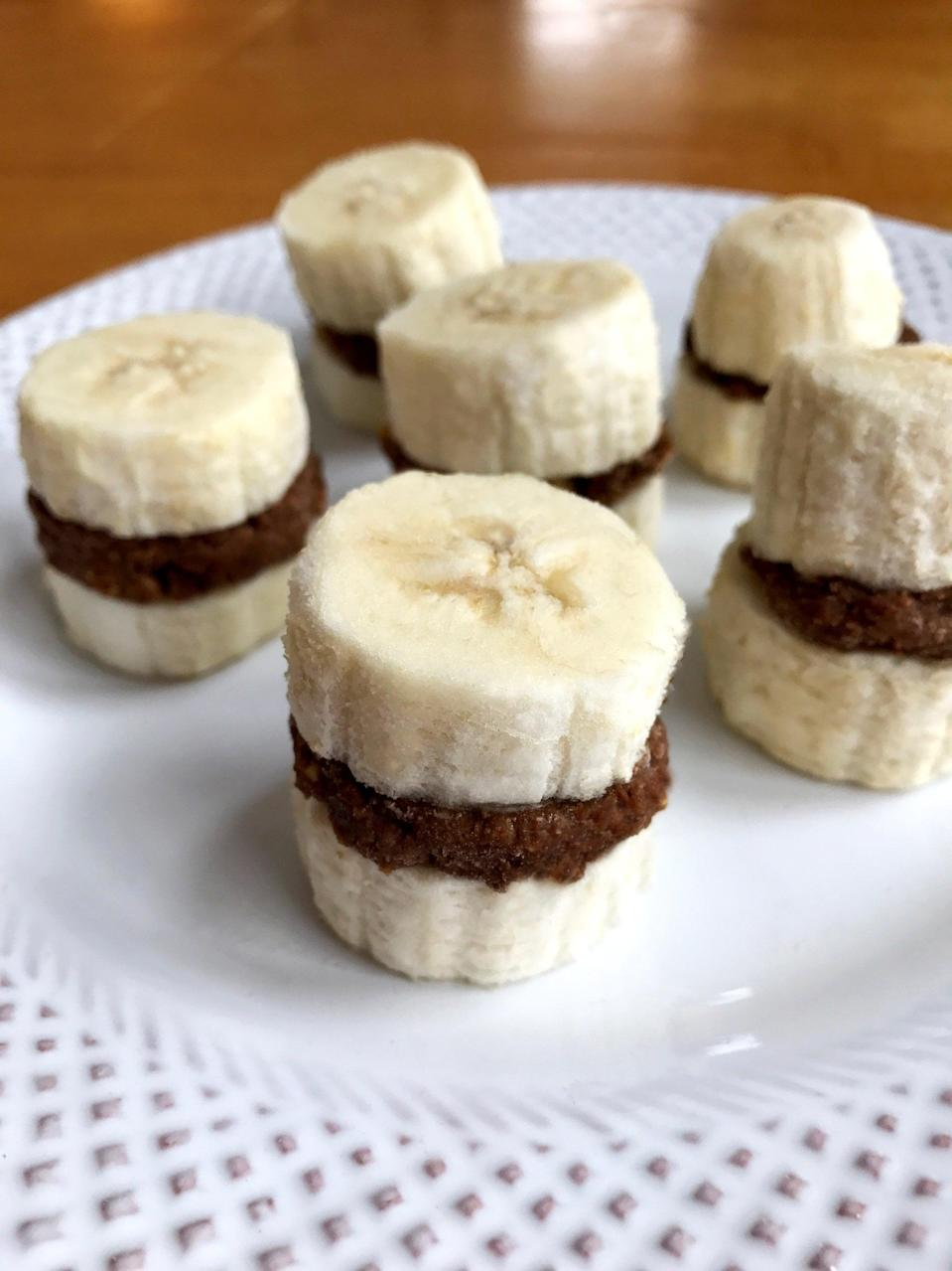 """<p>If you want something sweet that tastes like ice cream but is healthy, grab a banana and make these chocolate peanut butter banana nibblers.</p> <p><strong>Get the recipe:</strong> <a href=""""https://www.popsugar.com/fitness/Chocolate-Peanut-Butter-Banana-Snack-43158151"""" class=""""link rapid-noclick-resp"""" rel=""""nofollow noopener"""" target=""""_blank"""" data-ylk=""""slk:chocolate peanut butter banana nibblers"""">chocolate peanut butter banana nibblers</a></p>"""