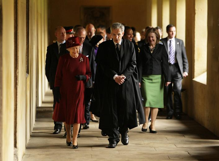 <p>The Queen at Magdalen College in 2008 </p> (Oxford Mail / SWNS)