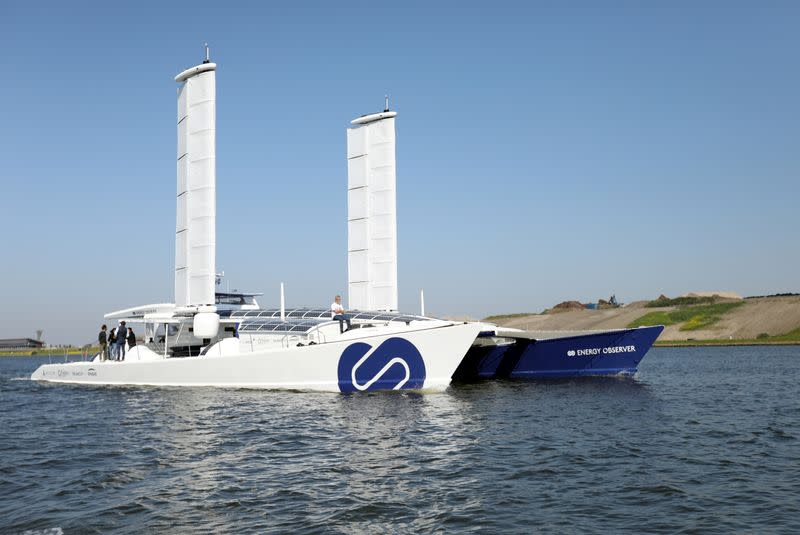 FILE PHOTO: The Energy Observer experimental hydrogen-powered boat